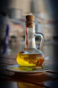 Olivový olej ve skle